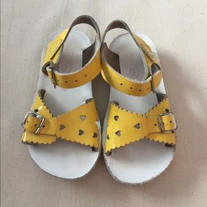 Yellow Salt Water Sandals by Hoy, 8